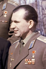 "Cosmonaut Pavel Belyayev, photo by A. Mokletsov - RIA Novosti archive, image #888102<br /><i>Source:</i> <a href=""https://commons.wikimedia.org/wiki/File:Belajev_cropped.jpg"" rel=""external"">Wikipedia</a> Belajev_cropped.jpg"