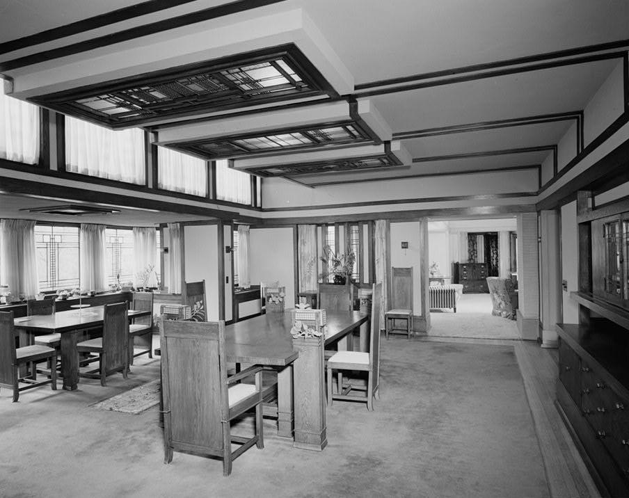 File:Boynton_House_ _Dining_room on Frank Lloyd Wright Rochester Ny