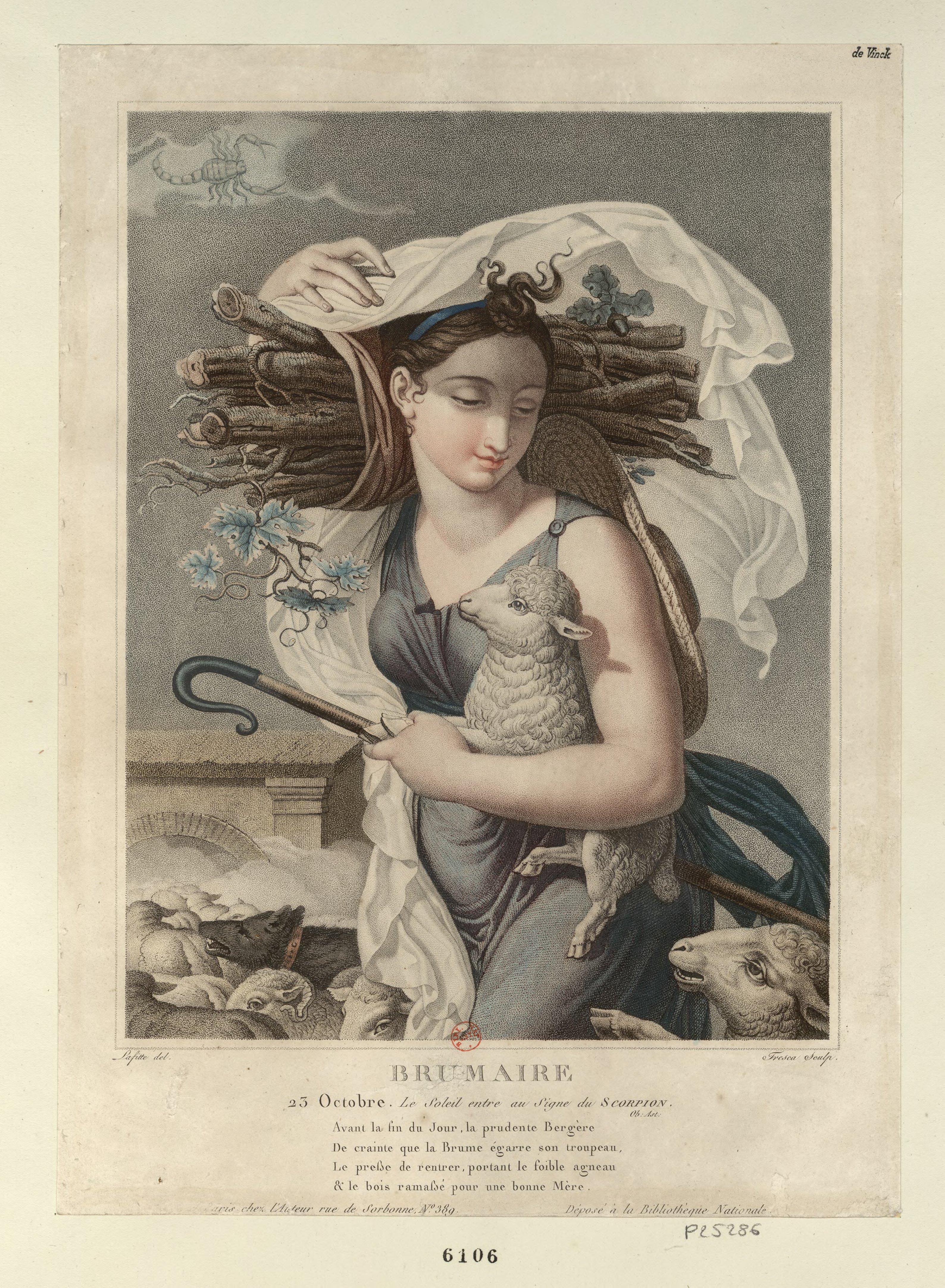 Брюмер (октябрь– ноябрь) второй месяц Республиканского календаря. Художник Louis Lafitte.1794