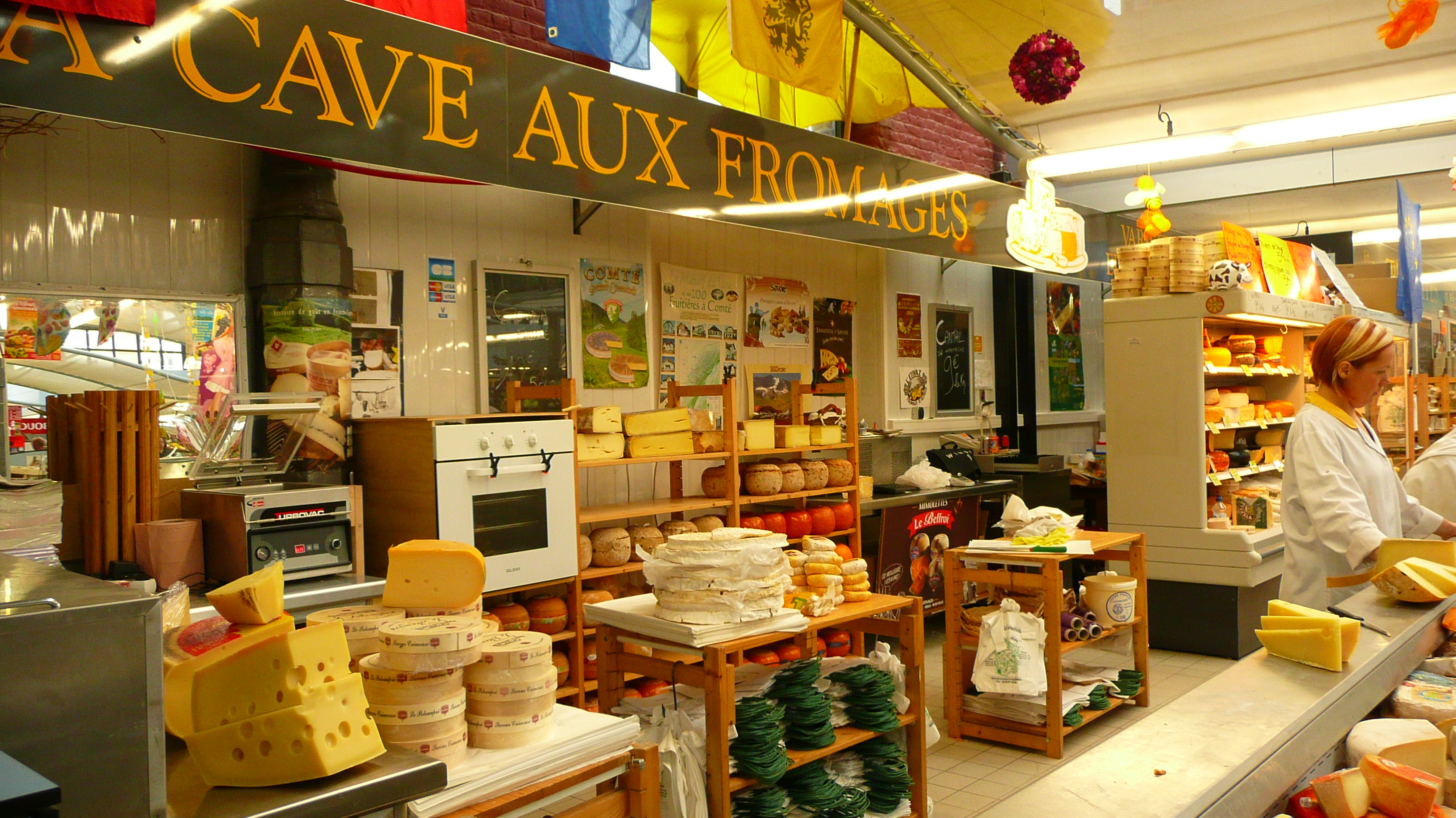 Cheese shop in Lille, France