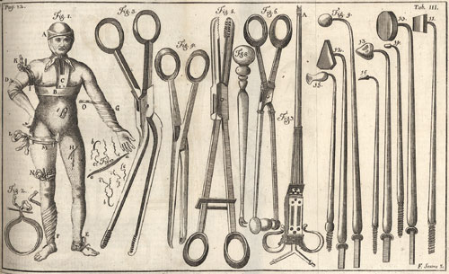 Surgeons tools (German). 1749.