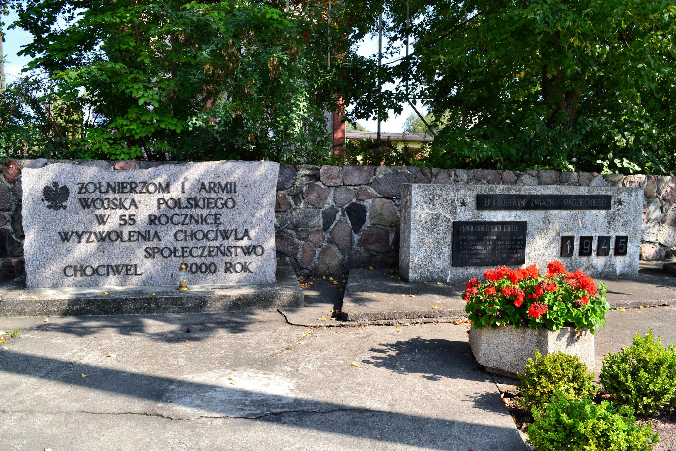 Pomnik Bohaterów Związku Radzieckiego w Chociwelu