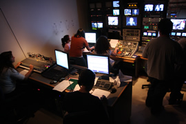 The CitrusTV control room during a taping of CitrusTV News
