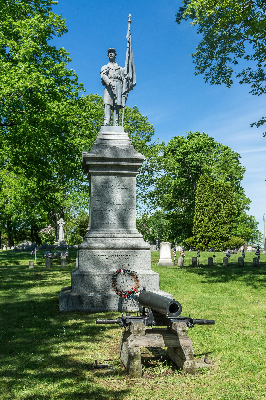 File Civil War memorial Evergreen Cemetery Portland Maine