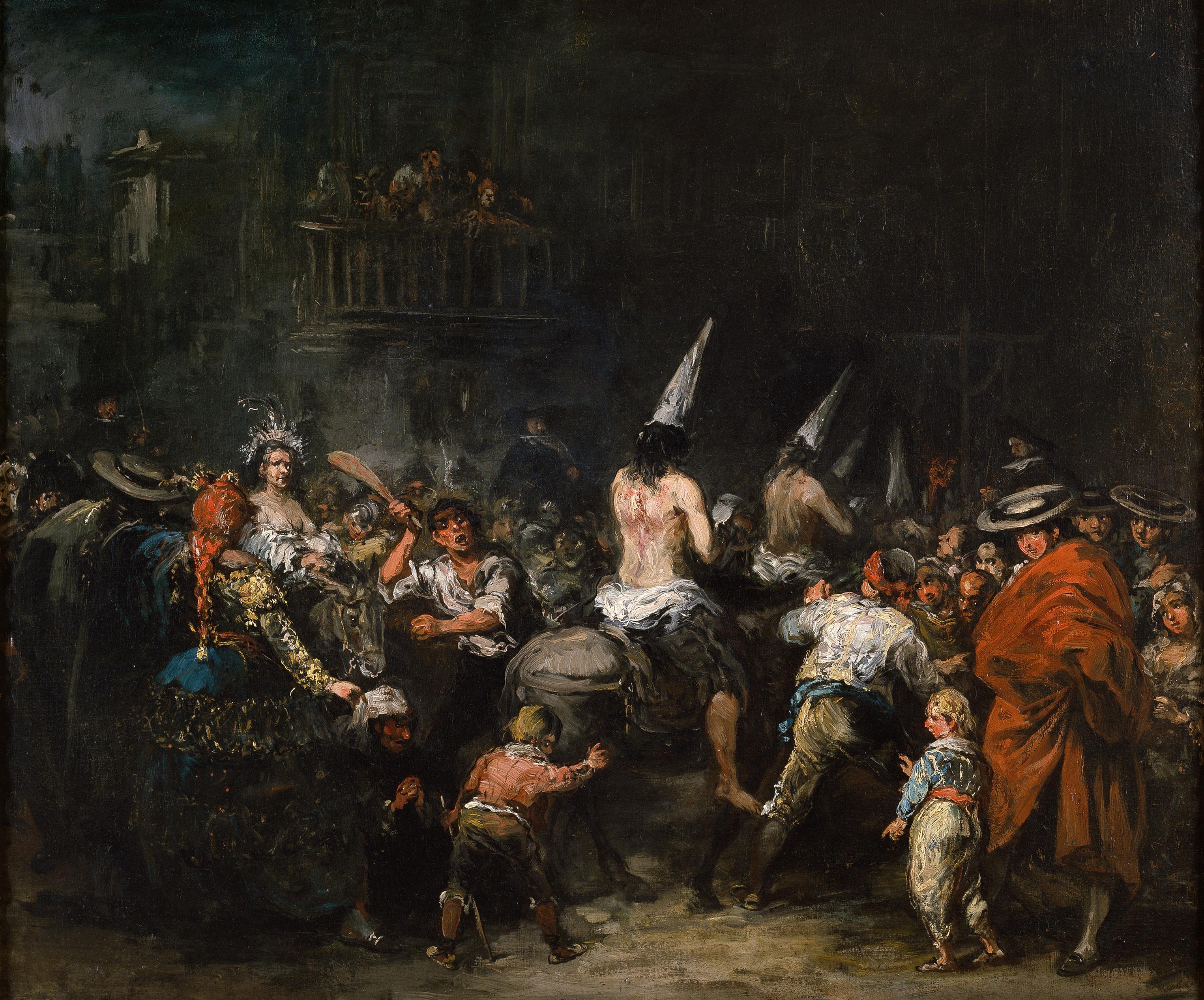 """""""Condenados por la Inquisición"""", de Eugenio Lucas."""