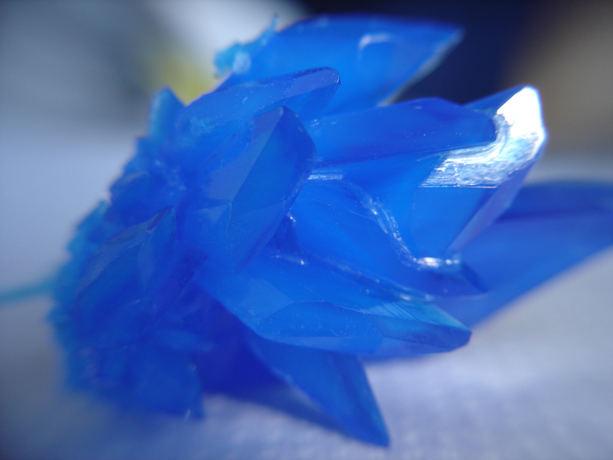 Cristales de sulfato de cobre