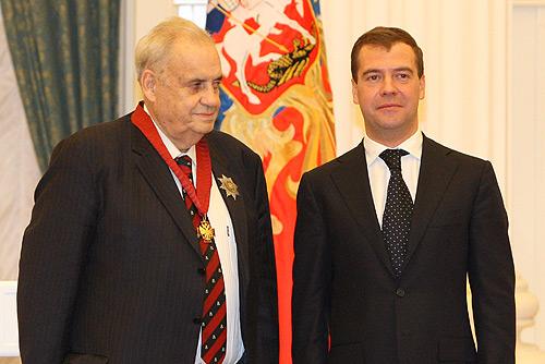 Dmitry Medvedev with Eldar Ryazanov