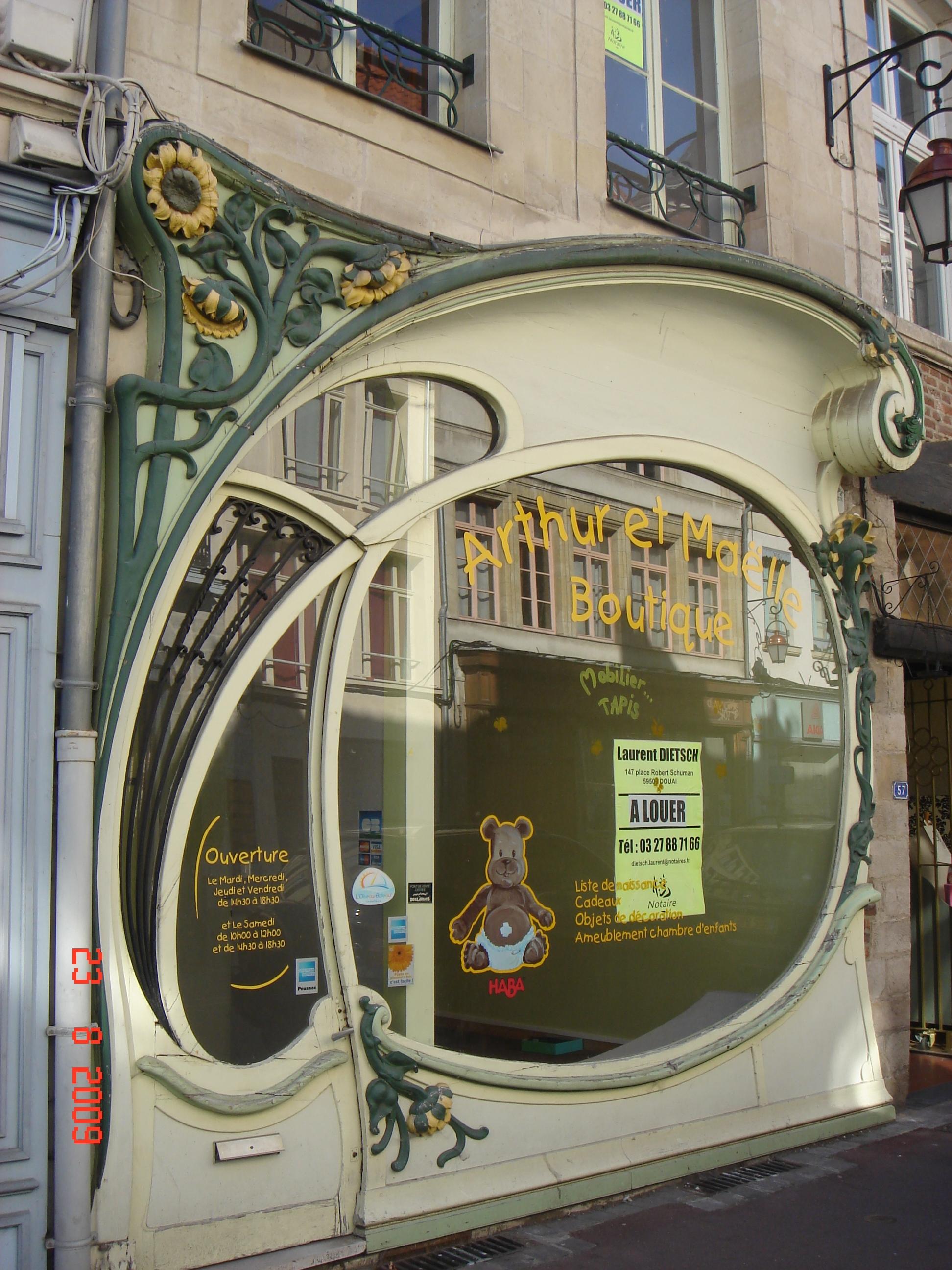file douai rue pollinchove fa ade tournesol 1902 andr p pe wikimedia commons. Black Bedroom Furniture Sets. Home Design Ideas