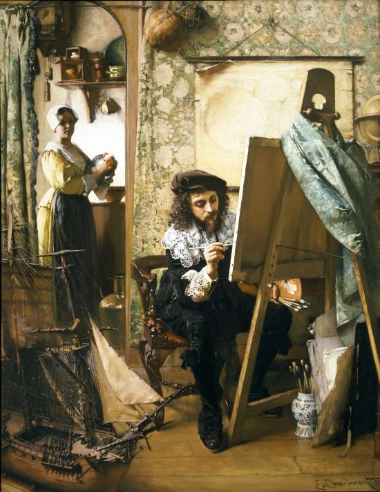 File:Eduard Charlemont Artist in his studio 1890.jpg