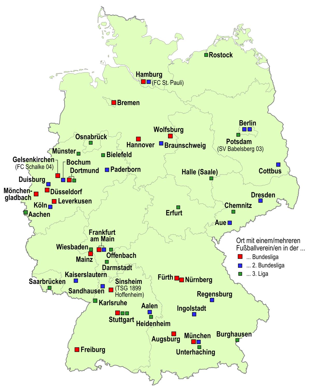 Mannschaften 2. Bundesliga