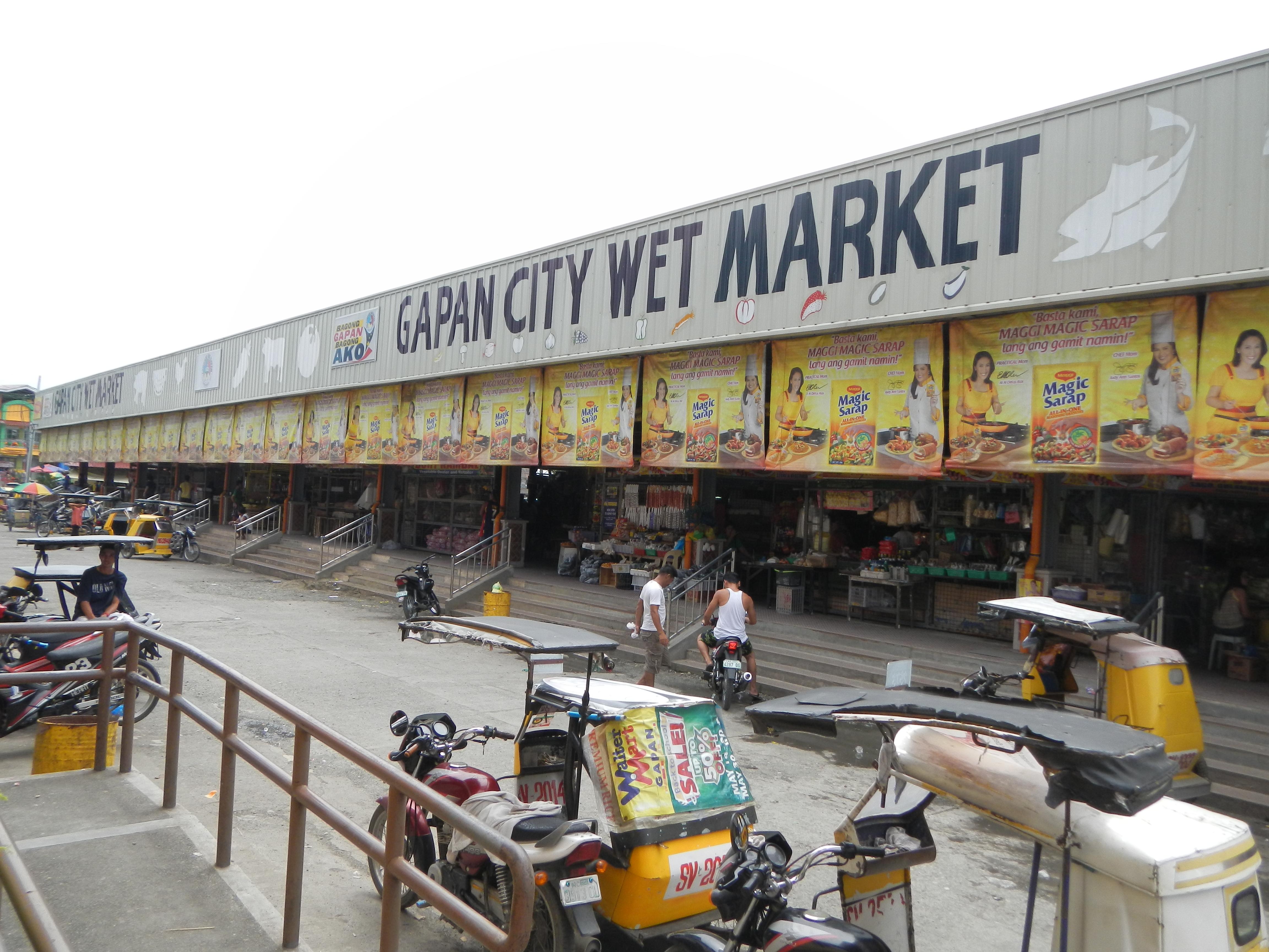 file gapan city wet market in nueva ecija     wikimedia