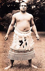 Sumo wrestler Haguroyama Masaji.