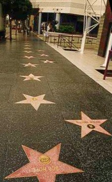 Hollywood's walk of fame