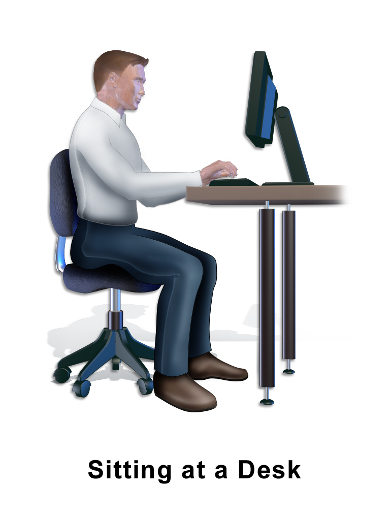File Home Care Sitting At Desk Png