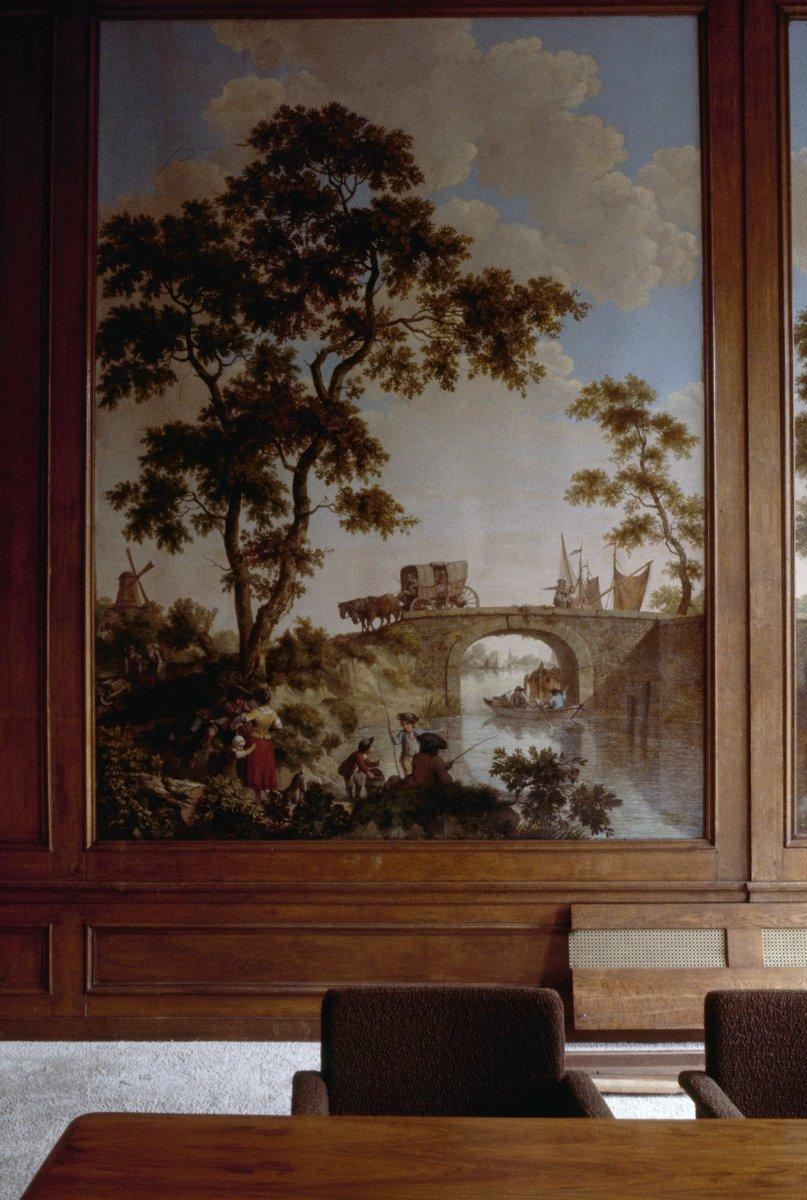 fileinterieur kamer wandschilderingen behangsels paneel amsterdam 20260009