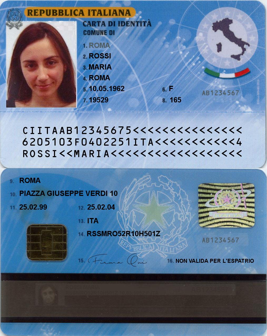 Carta d\'identità elettronica italiana - Wikipedia