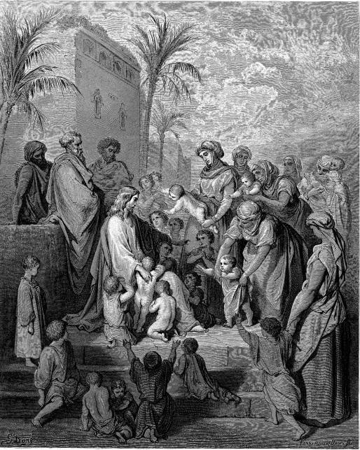 아이들을 축복하시는 예수님 (귀스타브 도레, Gustave Doré, 1866년)