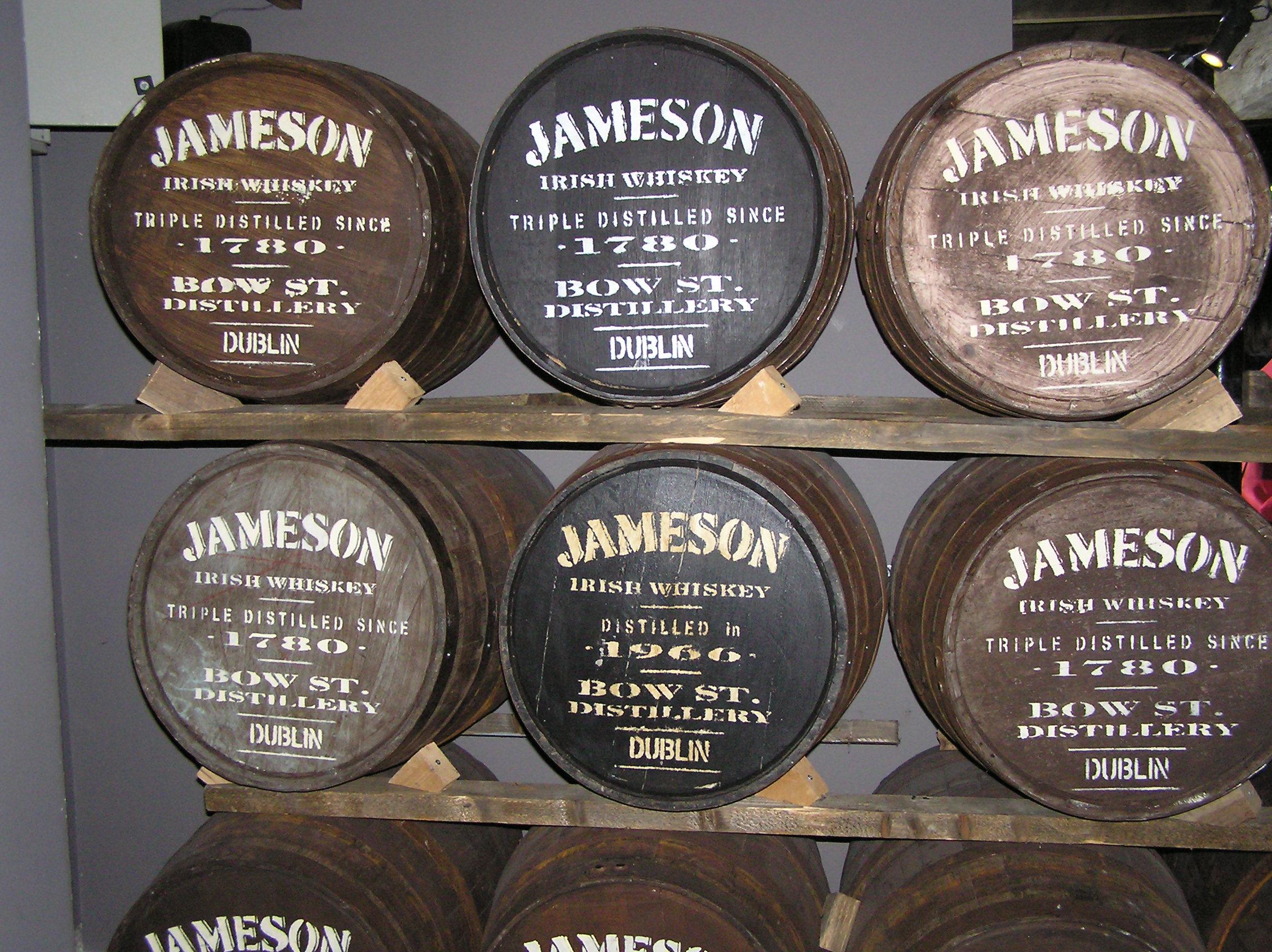 Jameson Barrels in Dublin.jpg