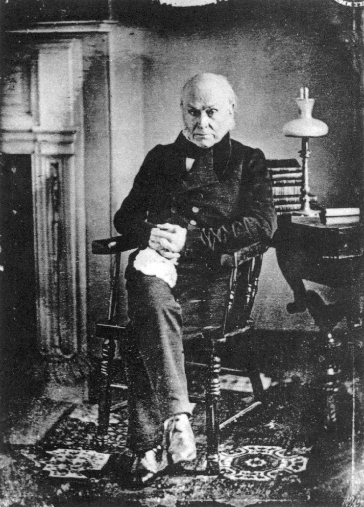 John Quincy Adams, in Washington, D.C., 1843. According to the Metropolitan Museum of Art web site, this image is a copy of a lost daguerreotype of Adams taken by Philip Haas ca. 1843. Public Domain, https://commons.wikimedia.org/w/index.php?curid=522048