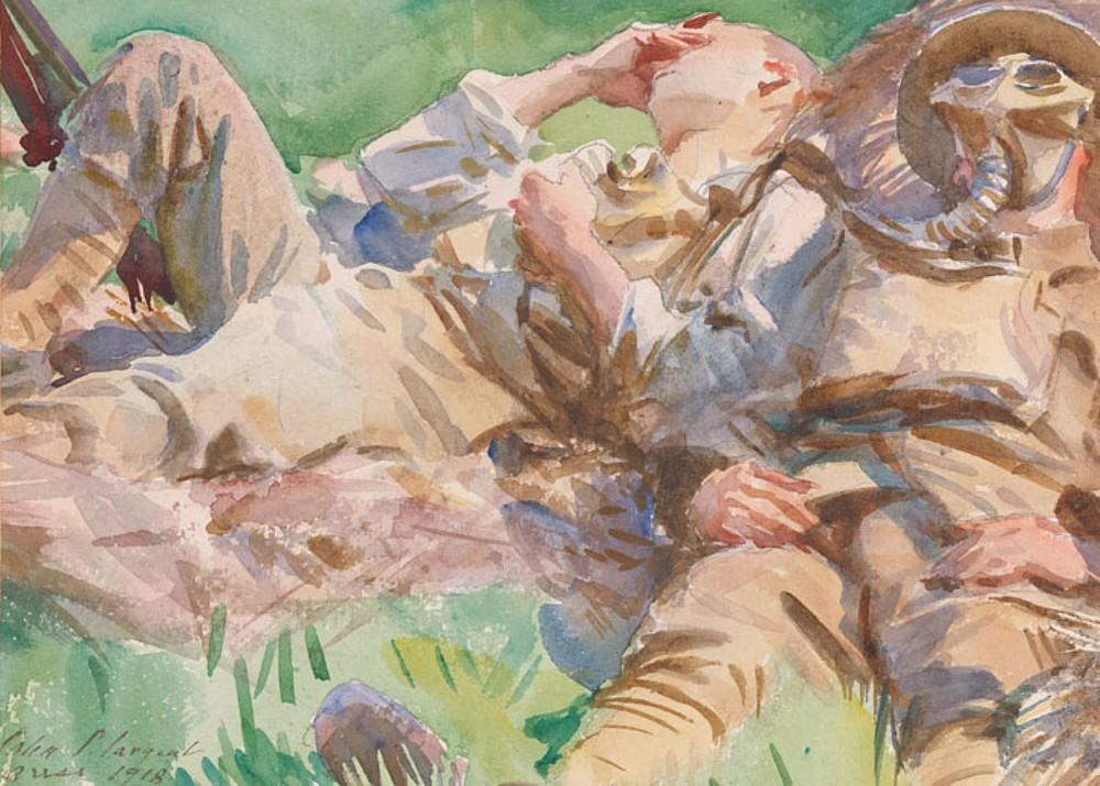 1918 JOHN SINGER SARGENT World War One Poster Tommies Bathing