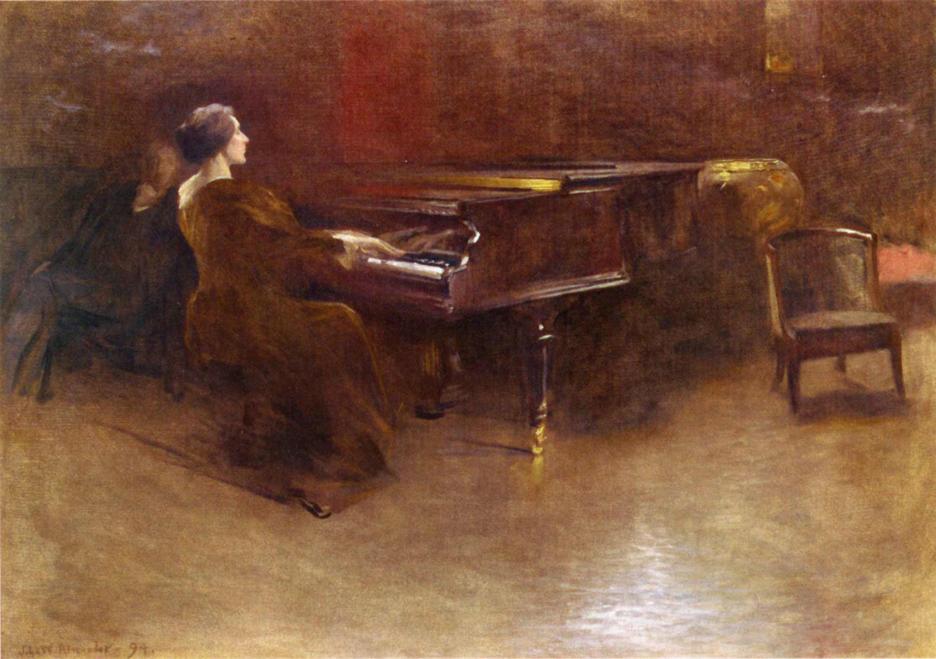 Джон Уайт Александр За роялем 1894.jpg