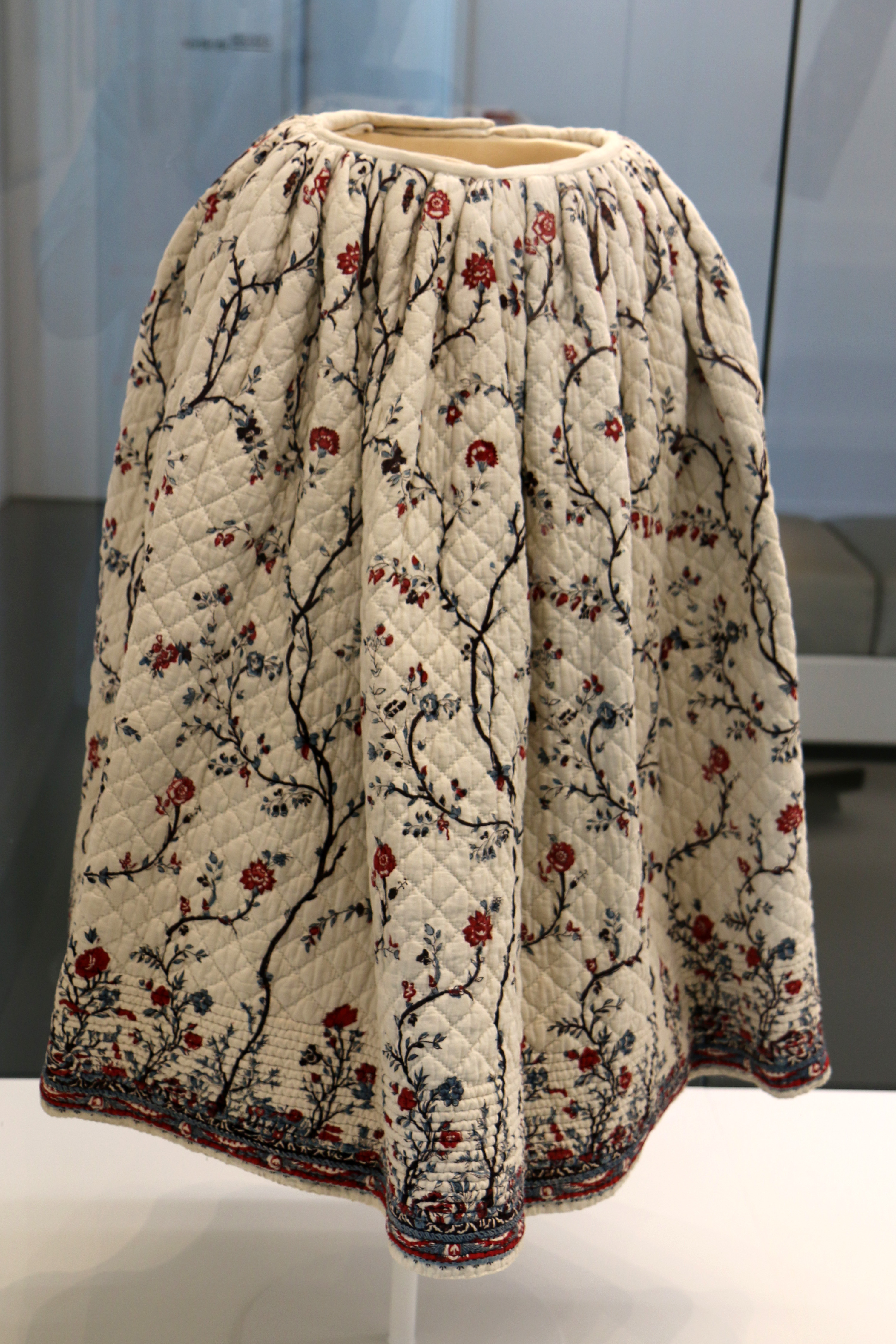 Quilted petticoat of Indian cotton of the eighteenth century in Marseille History Museum.