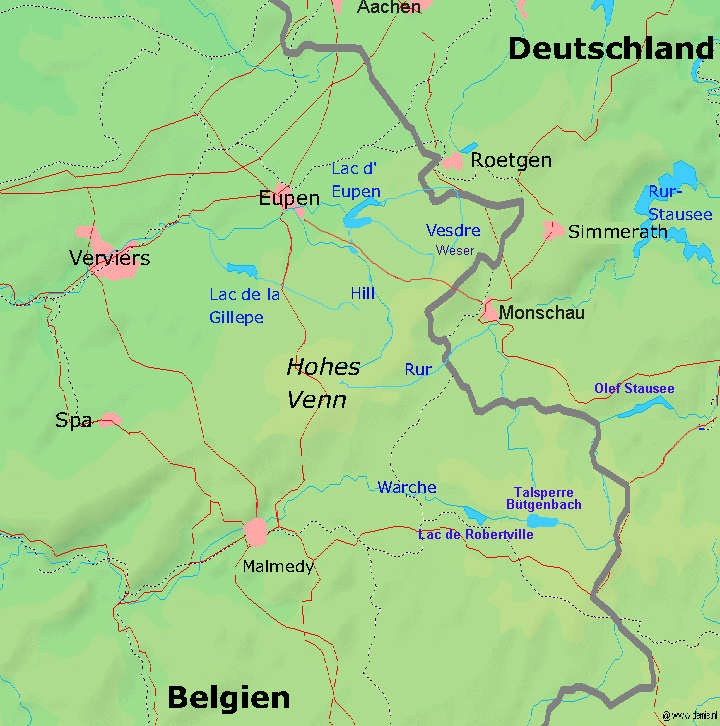 Nationalpark Eifel Karte.Hohes Venn Wikipedia