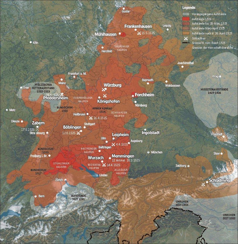 Got Karte Deutsch.German Peasants War Wikipedia