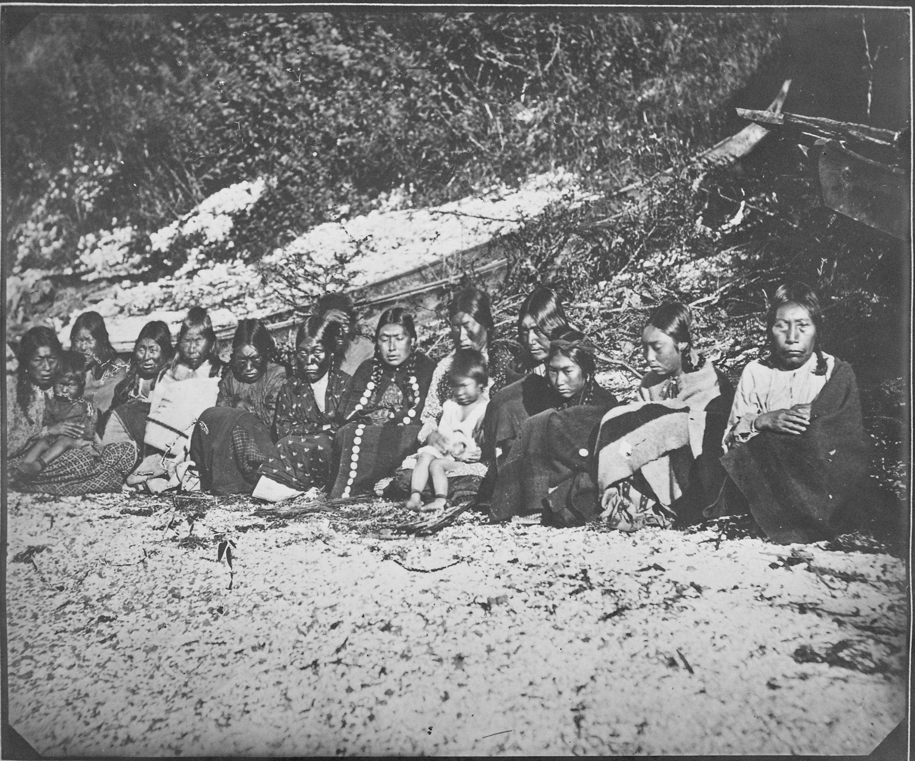 File:Kwakiutl, Group of women and children, probably at ...