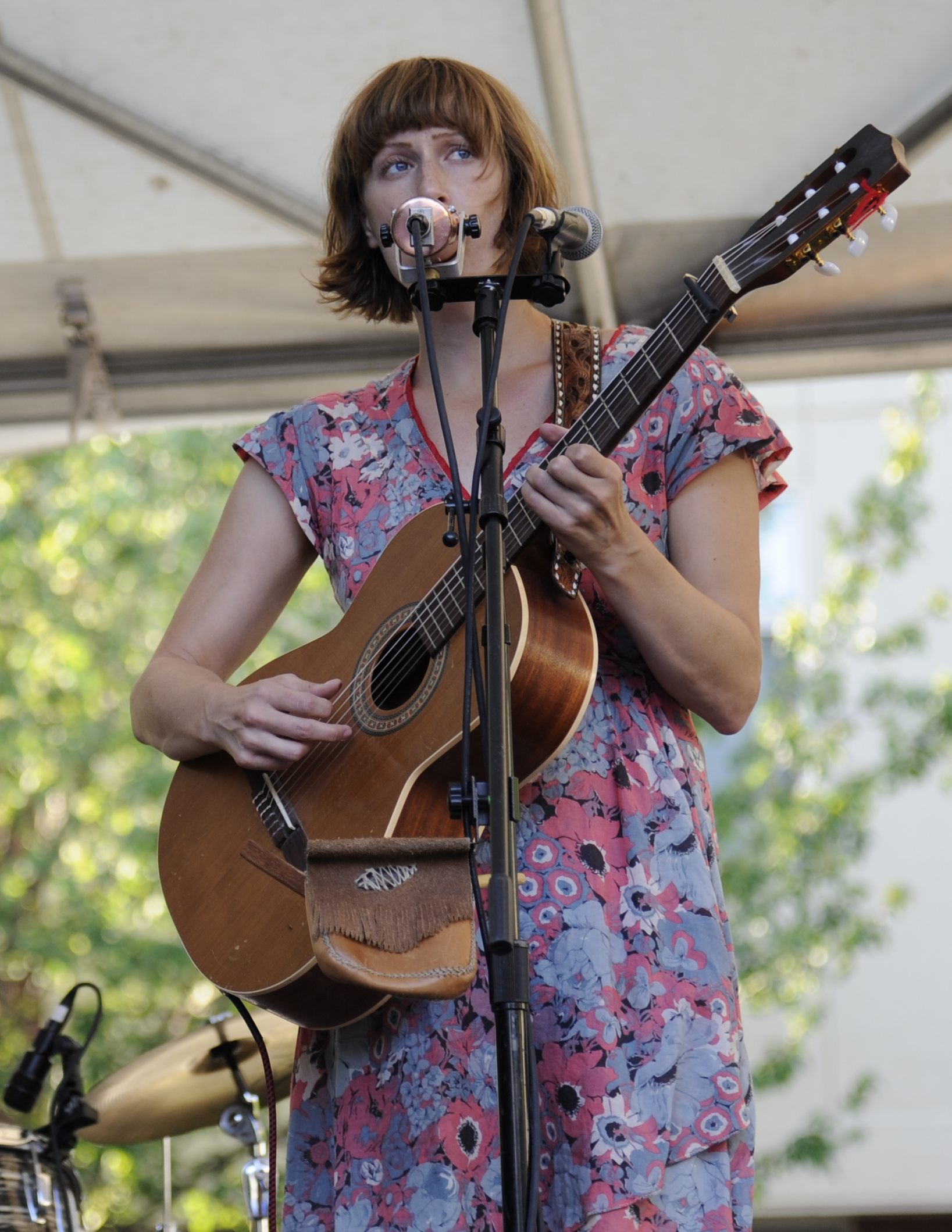 Gibson performing live, 2012