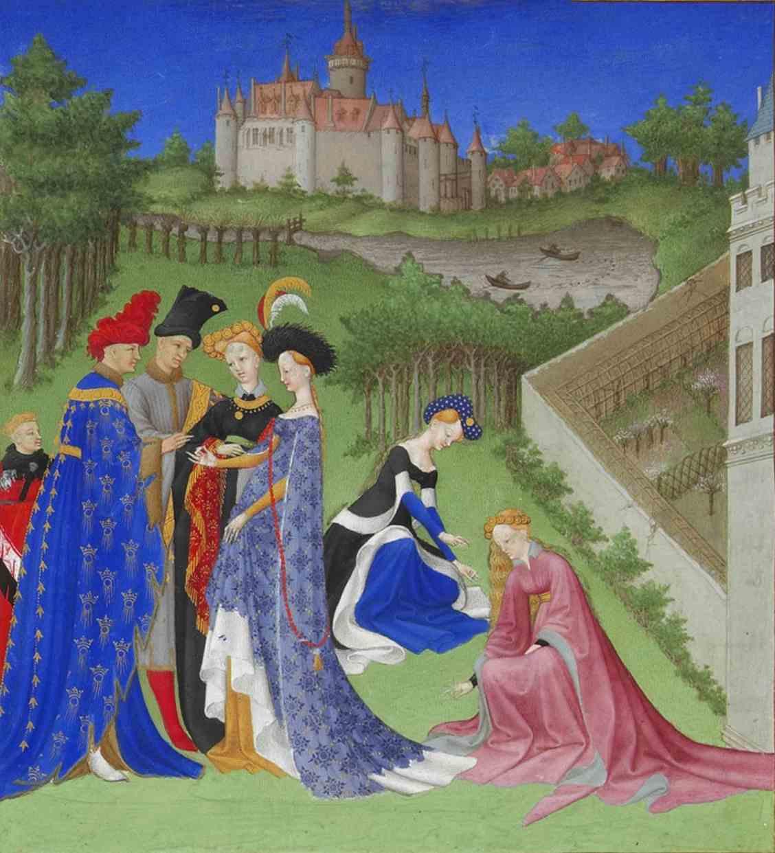 File:Les Très Riches Heures du duc de Berry avril (détail ...