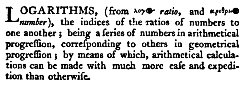 The 1797 Encyclop dia Britannica explanation of logarithms