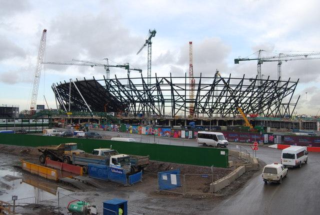 File London Olympic Stadium Construction Jpg Wikimedia