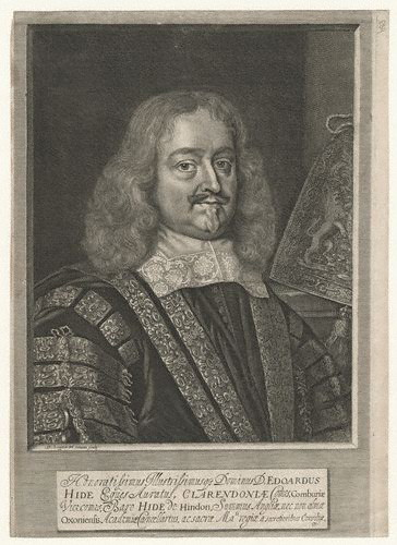 The Earl of Clarendon in a 1666 engraving by David Loggan