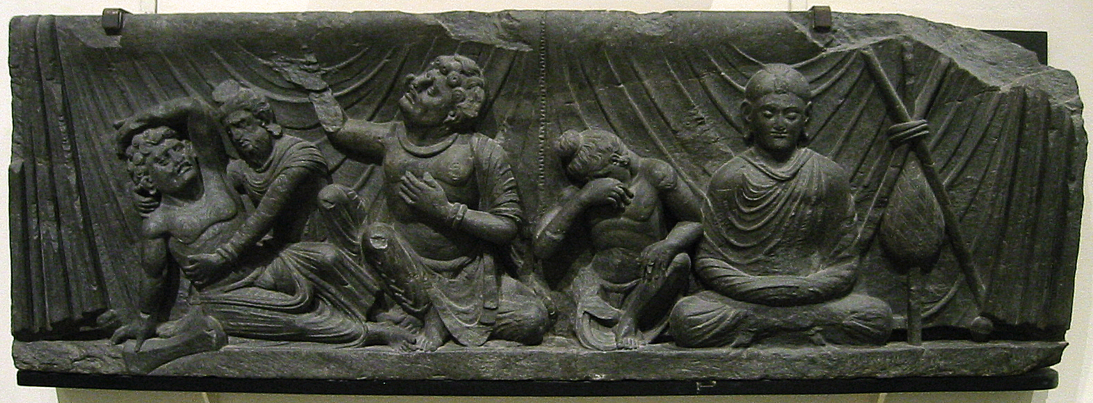 Attendants to the Parinirvana, Gandhara, Victoria and Albert museum