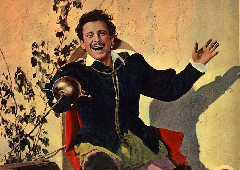 Doménico Modugno en la película <em>La capa roja</em> (1955).