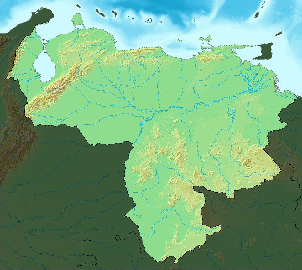 Venezuela Topographic Map.File Map Of Venezuela Demis Shaded Png Wikimedia Commons