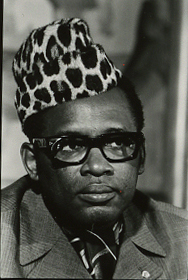 Mobutu's many looks (1976-04-28)(Gerald Ford Library) (cropped).jpg