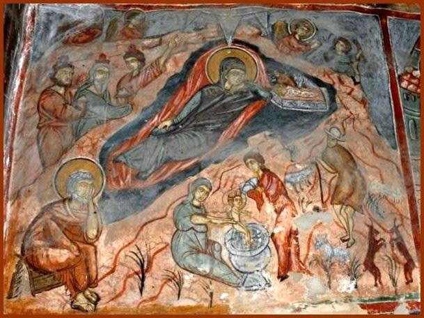 Nativity Eleoussa Prespa Church Fresco.jpg