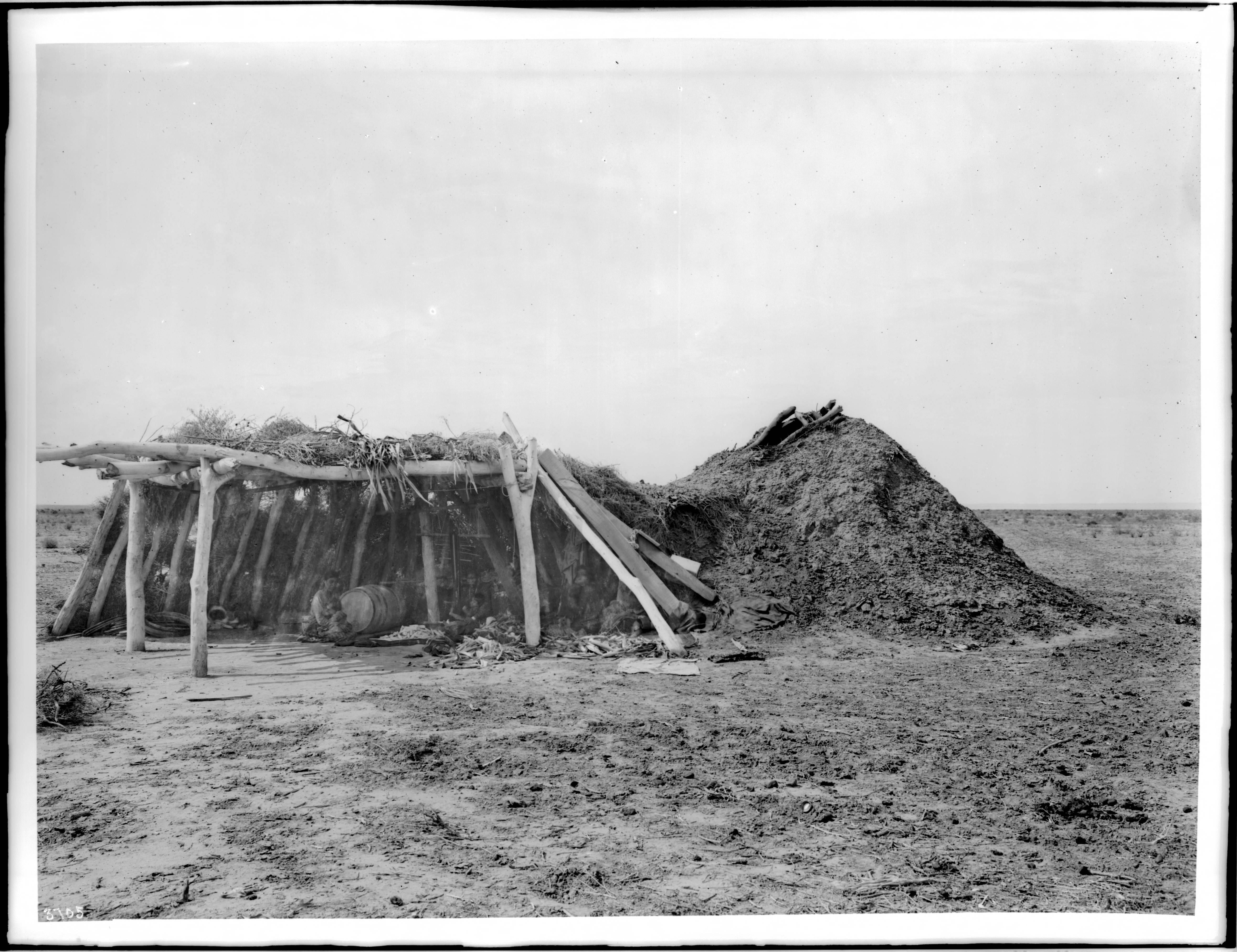 File Navajo Indian Hogan With Ramada Ca 1900 Chs 3705
