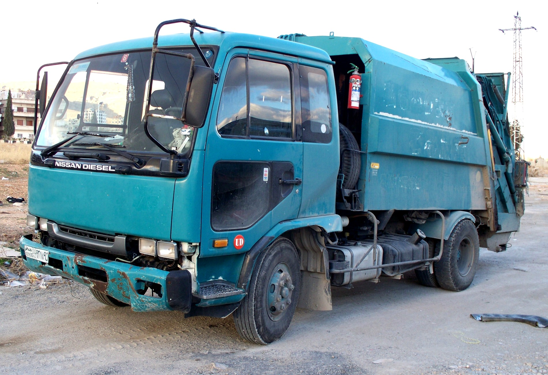 File:Nissan Diesel waste collection truck.JPG