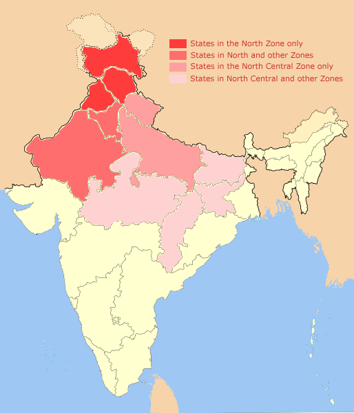 Файлnorth india zonal map 1png � Википедия