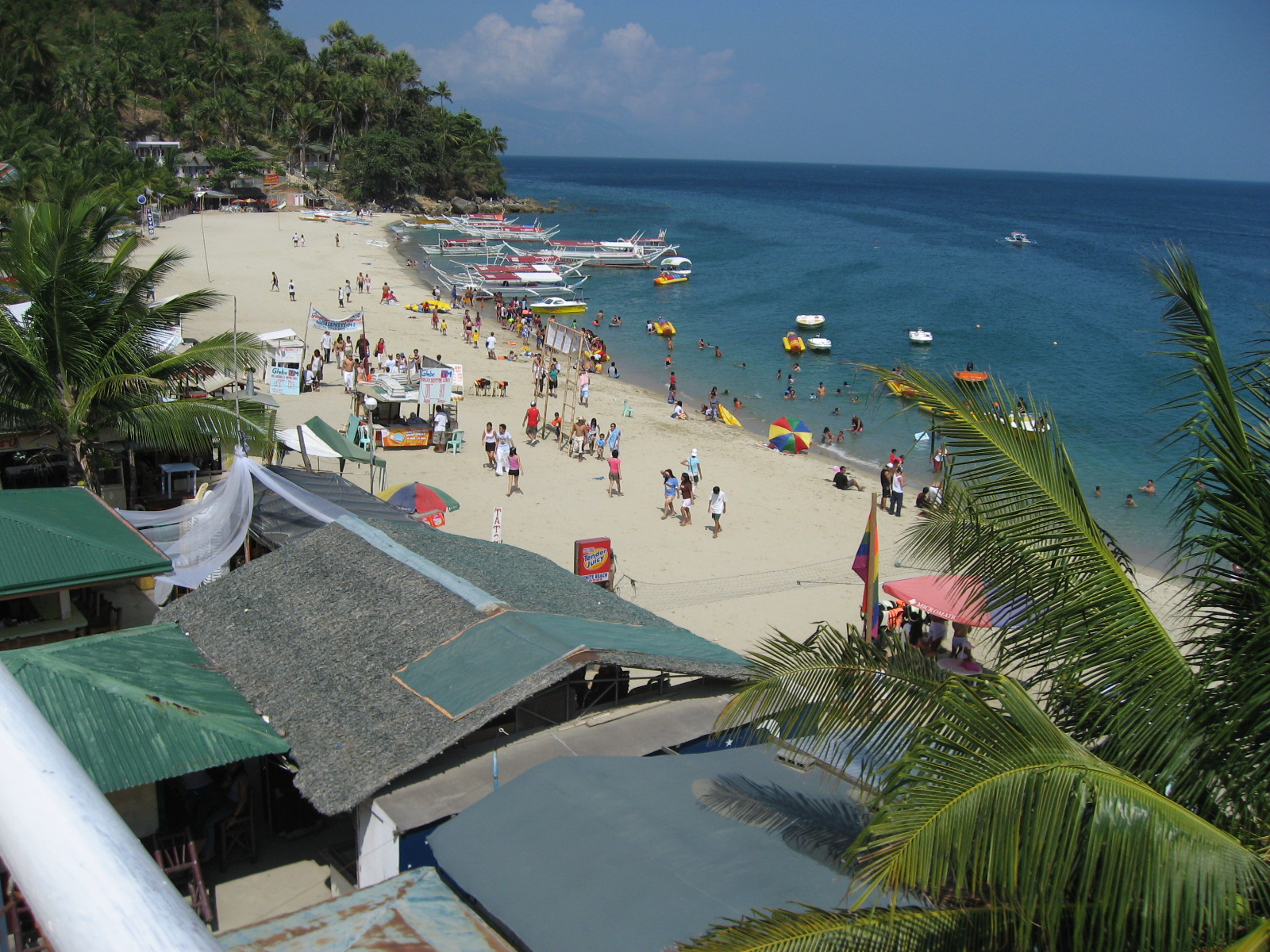 Puerto Galera Philippines  City new picture : PH Puerto Galera White Beach 2 Wikipedia, the free ...