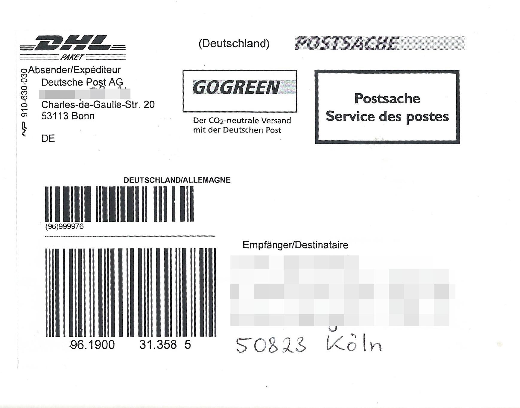 File:Paketaufkleber DHL als Postsache 2015.jpg - Wikimedia Commons