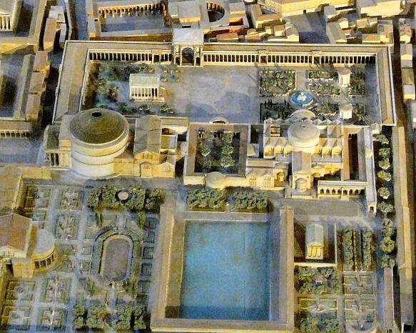 Reconstitution des thermes d'Agrippa où allait se baigner Sénèque