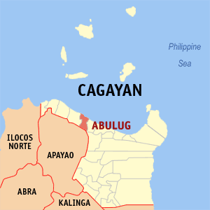 Map of Cagayan showing the location of Abulug
