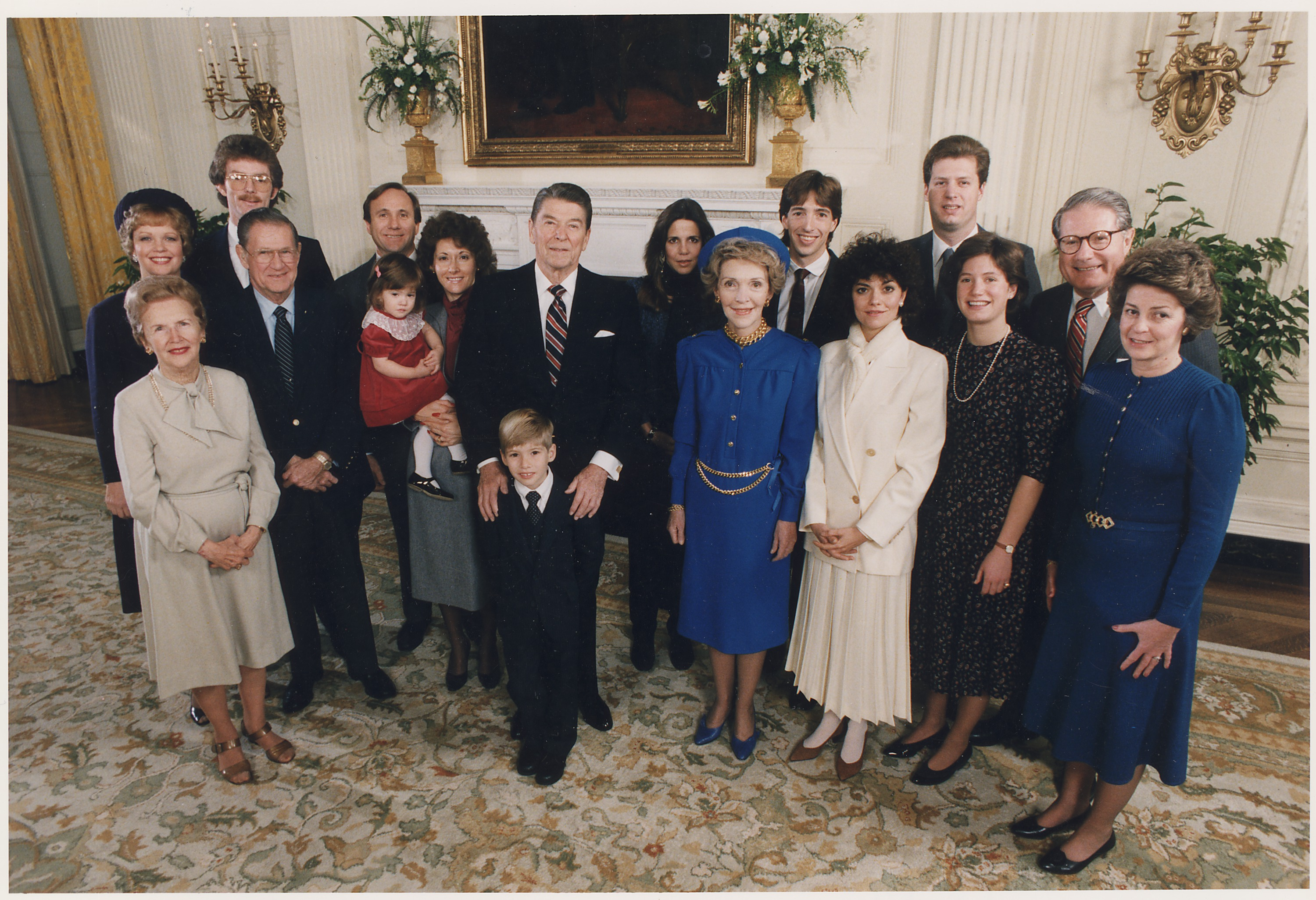 Jfk Oval Office File Photograph Of 1985 Inaugural Family Photo From Left