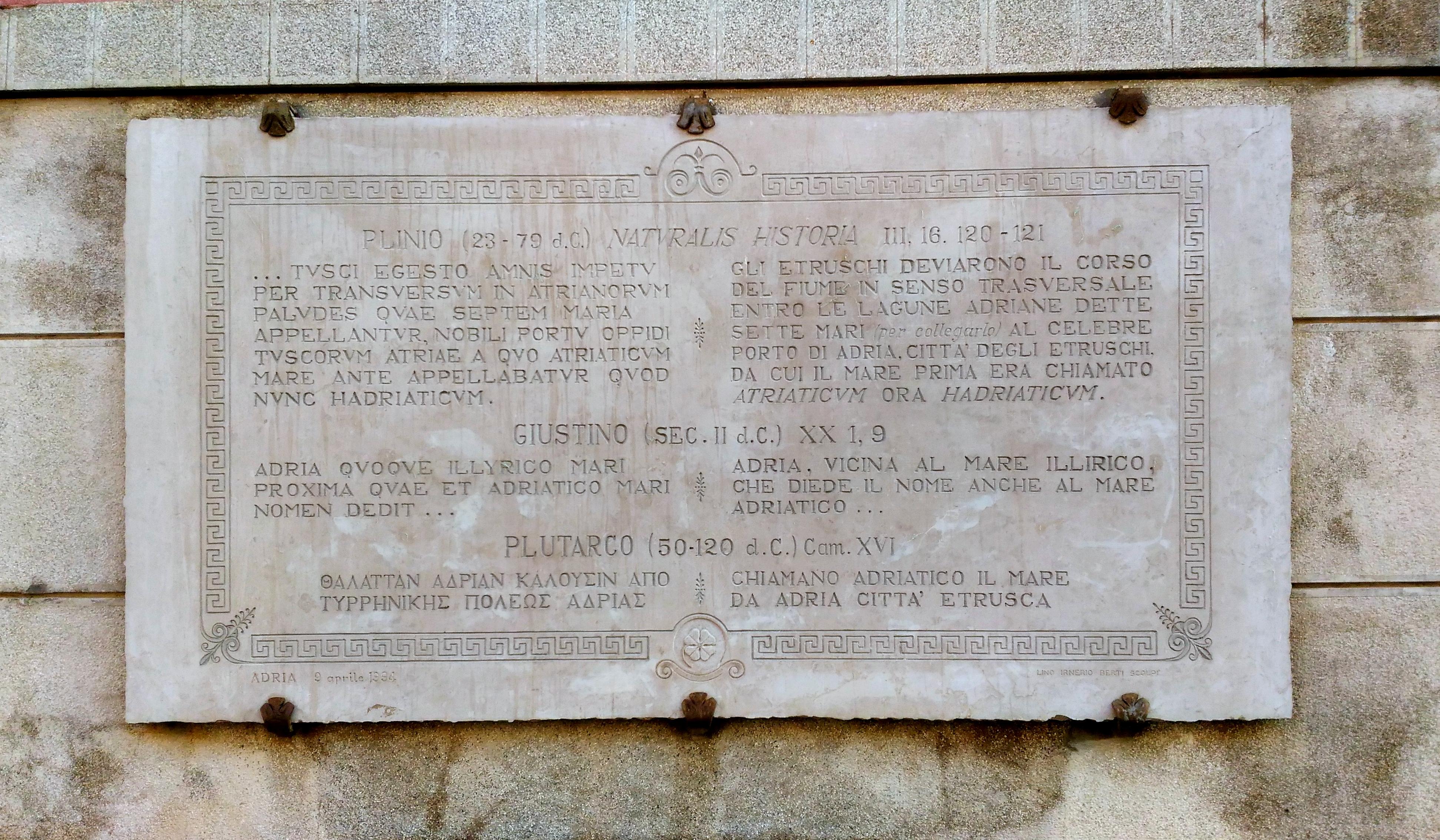 File Piazza Carlo Bocchi Lapide Citazioni Storiche Adria