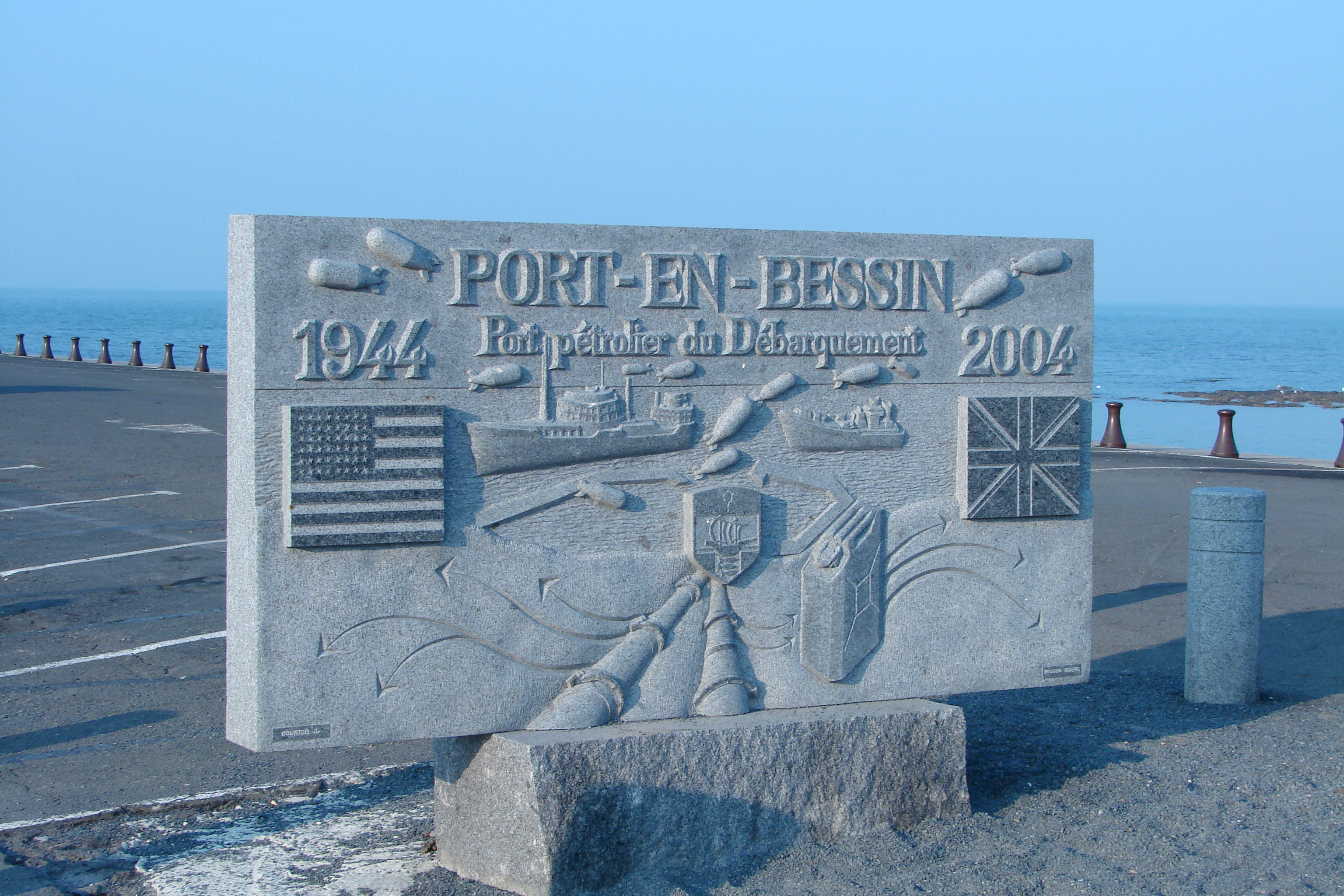 FilePortenBessinHuppain Calvados Tablet Of The DdayJPG - Location port en bessin