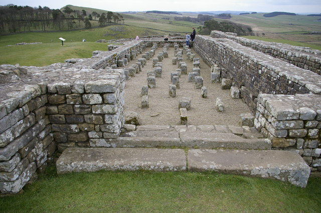 Remains of granary, Housesteads Roman Fort - geograph.org.uk - 408975